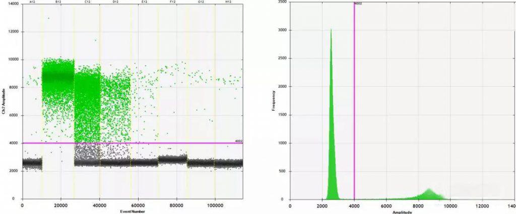 HEX-oligo-BHQ1探针检测靶标信号